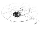 """Das Weltallbild von Albert Einstein: Raumabsorbtionskraft und Eigenenergie der Beteiligten biegt den Raum und definiert die Bahnen. Bedenklich: Es gab einen """"Verein der Astronomen gegen die Theorien von Einstein"""""""